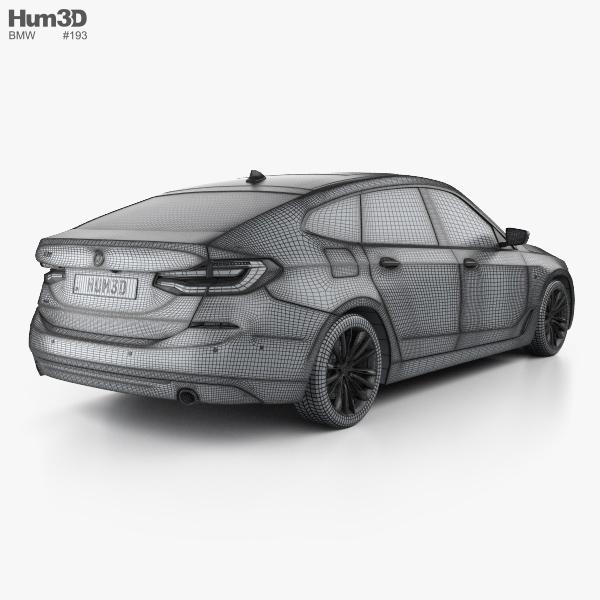 BMW 6 Series (G32) Gran Turismo Luxury Line 2017 3D Model