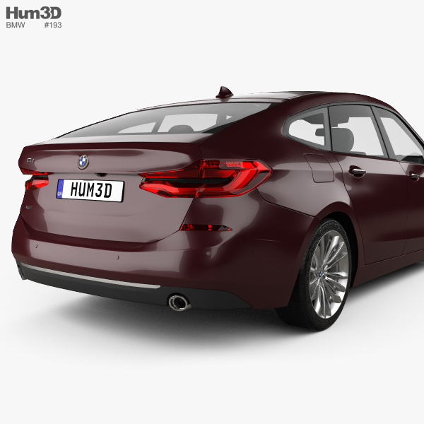 BMW 6 Series (G32) Gran Turismo Luxury Line 2017 3D Model