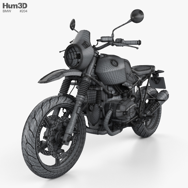 Bmw R Ninet Urban Gs 2017 3d Model Vehicles On Hum3d