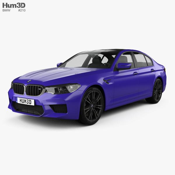 bmw m5 sedan 2017 3d model vehicles on hum3d. Black Bedroom Furniture Sets. Home Design Ideas