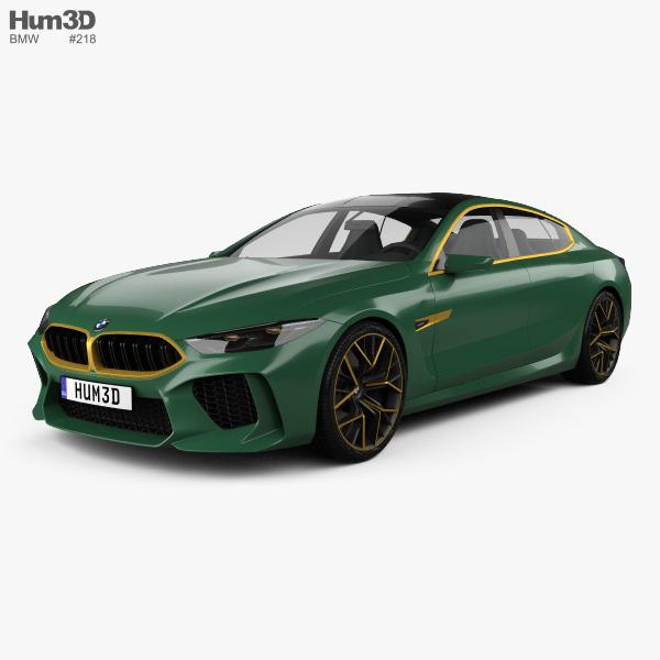 Bmw M8: BMW M8 Gran Coupe 2018 3D Model