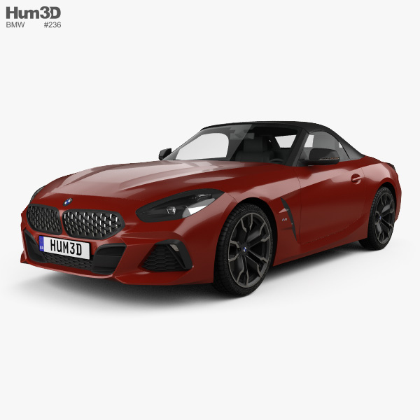 2019 Bmw Z4: BMW Z4 M40i (G29) First Edition Roadster 2019 3D Model