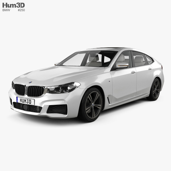 Bmw 6 Series Gran Turismo M Sport With Hq Interior 2017 3d