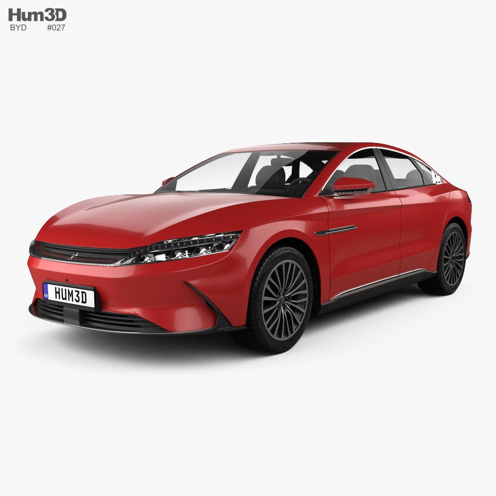 BYD Han EV 2020 3d model