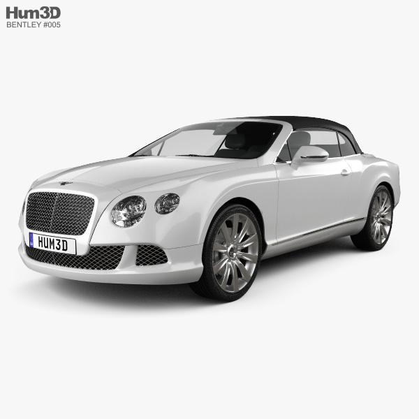 Bentley Convertible Car: Bentley Continental GT Convertible 2012 3D Model