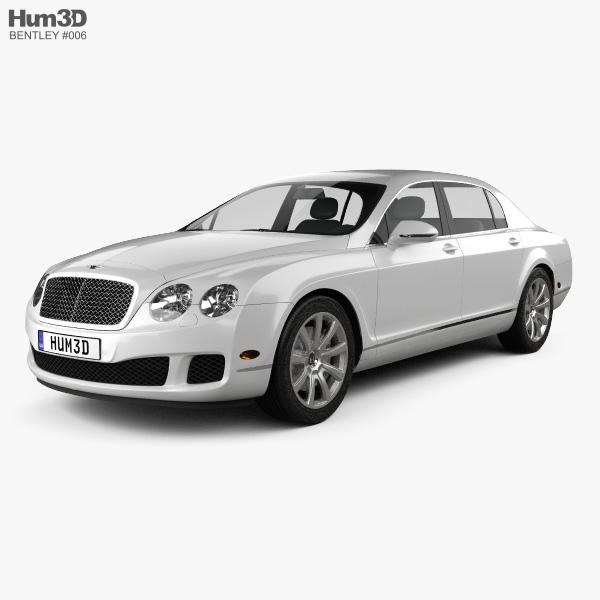 bentley continental flying spur 2012 3d model hum3d. Black Bedroom Furniture Sets. Home Design Ideas