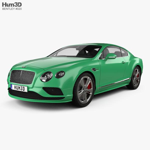 Bentley Continental Gt3 R: Bentley Continental GT Speed 2015 3D Model