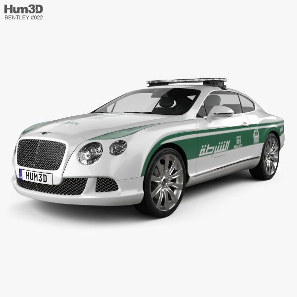 Bentley Continental GT Police Dubai 2013 3D Model