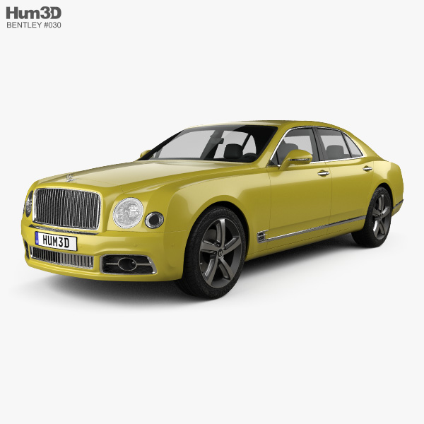 Bentley Mulsanne: Bentley Mulsanne Speed 2017 3D Model