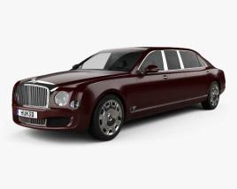 Bentley Mulsanne Grand Limousine Mulliner 2017 3D model