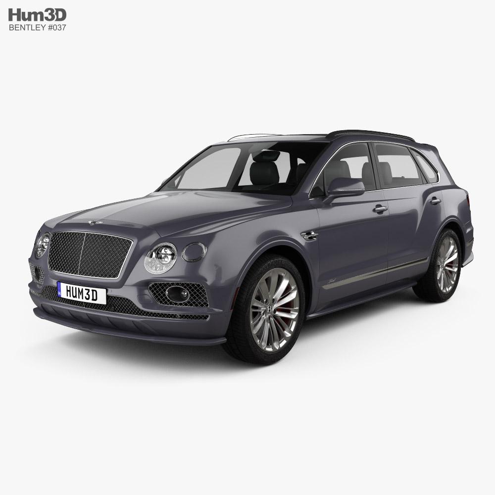Bentley Bentayga Speed US-spec 2020 3d model