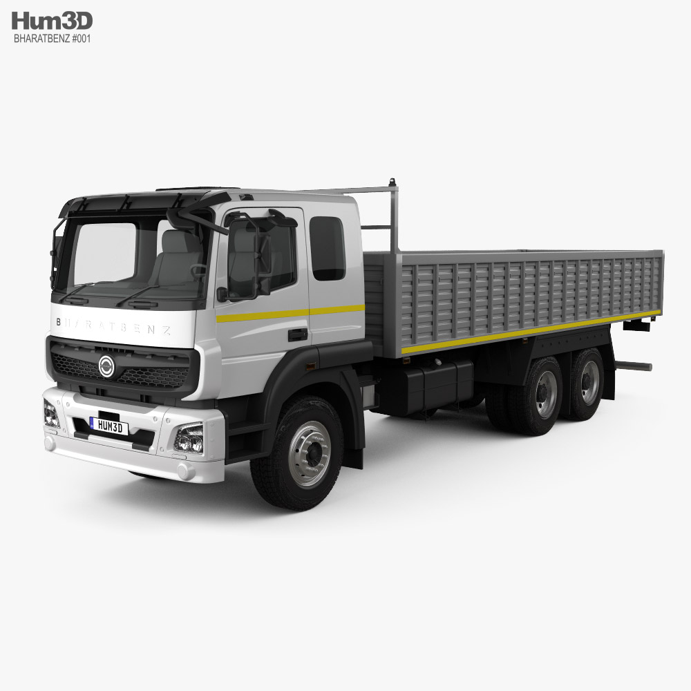 BharatBenz 2823r Flatbed Truck 2019 3d model