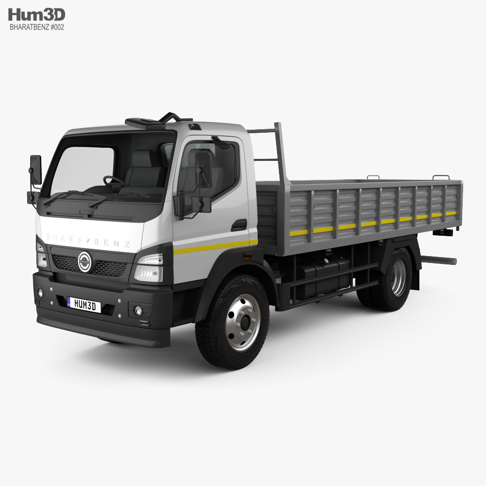 BharatBenz MDT 1015R Flatbed Truck 2019 3d model