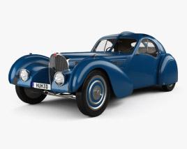 Bugatti Type 57SC Atlantic with HQ interior 1936 3D model