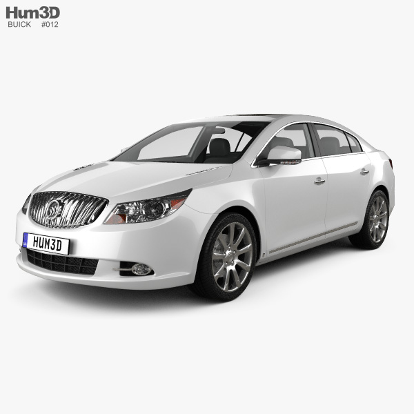 Buick LaCrosse (Alpheon) with HQ interior 2012 3D model ...