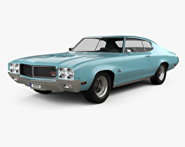 Buick GS 455 Stage 1 coupe 1970 3D model