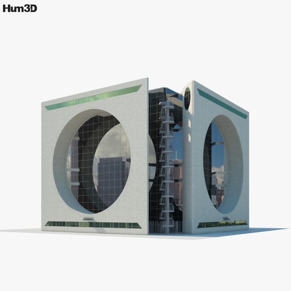 Calakmul Corporate Building Mexico 3d model