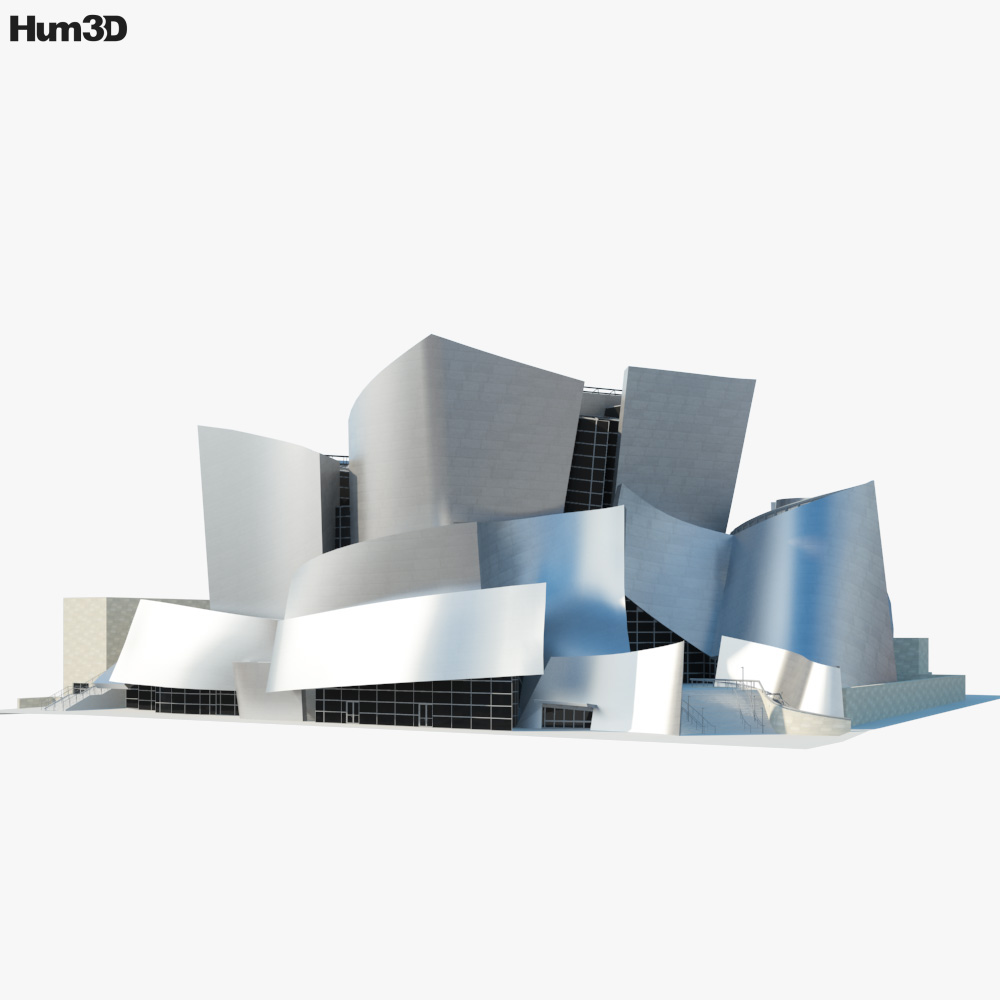 Walt Disney Concert Hall 3d model