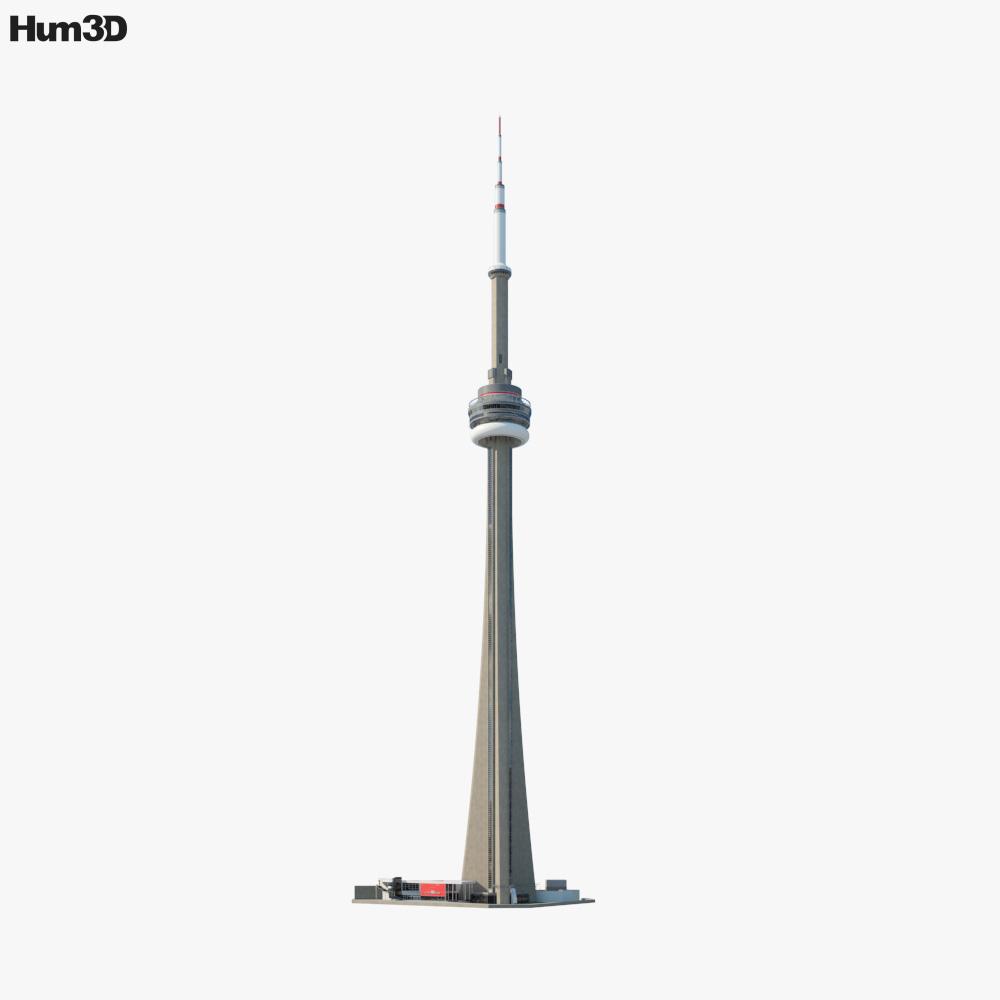 CN Tower 3d model