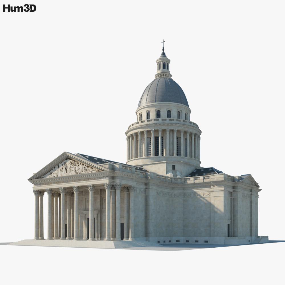 Pantheon Paris 3d model