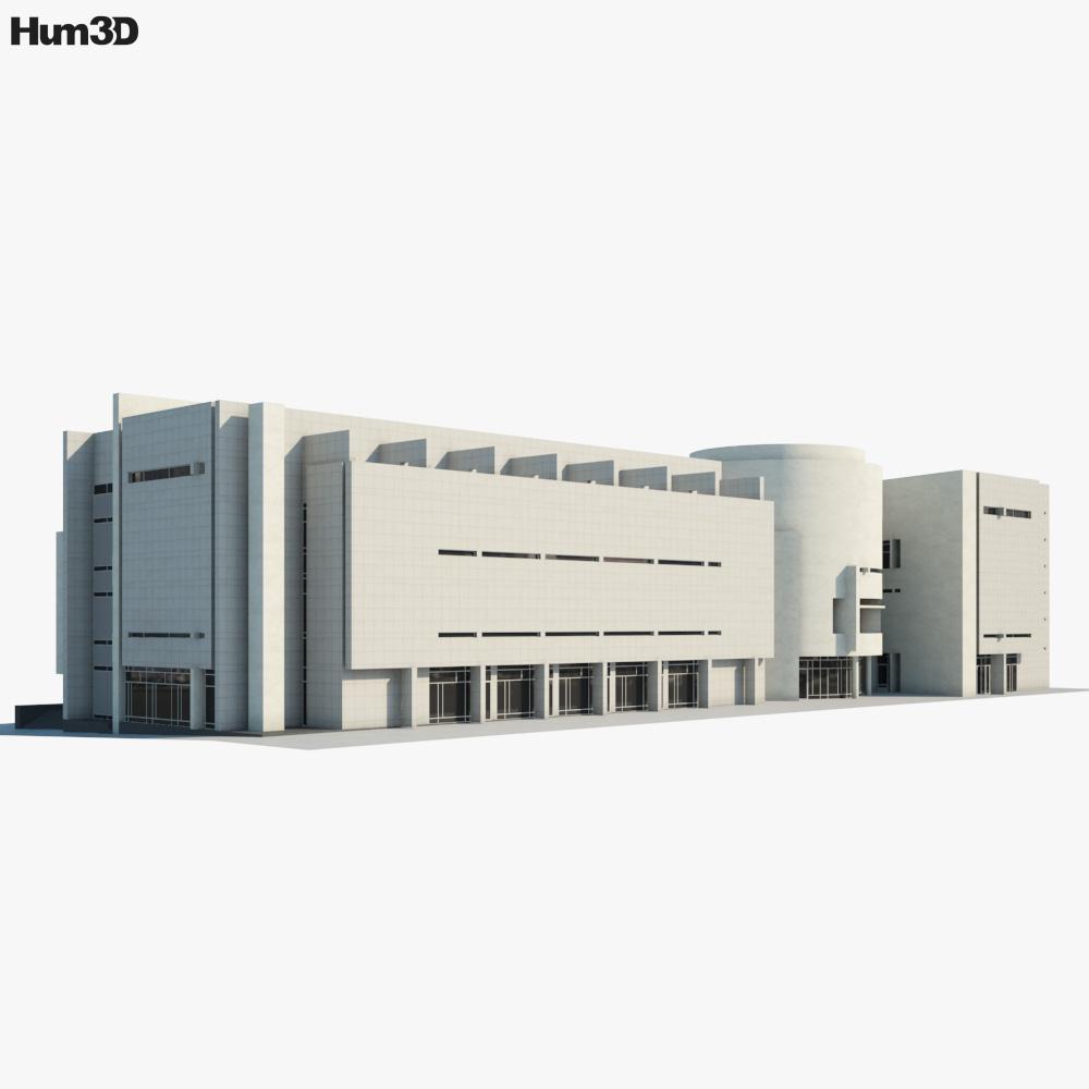 Barcelona Museum of Contemporary Art 3d model