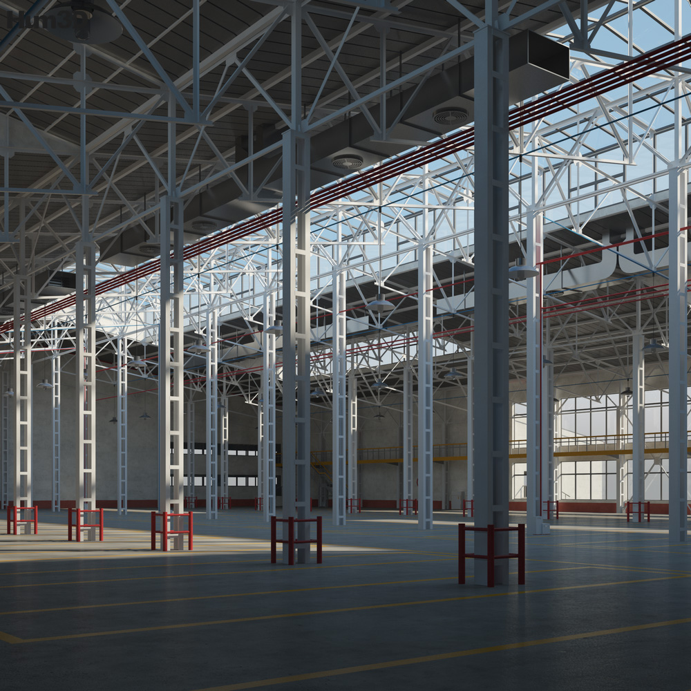 Warehouse 01 3d model
