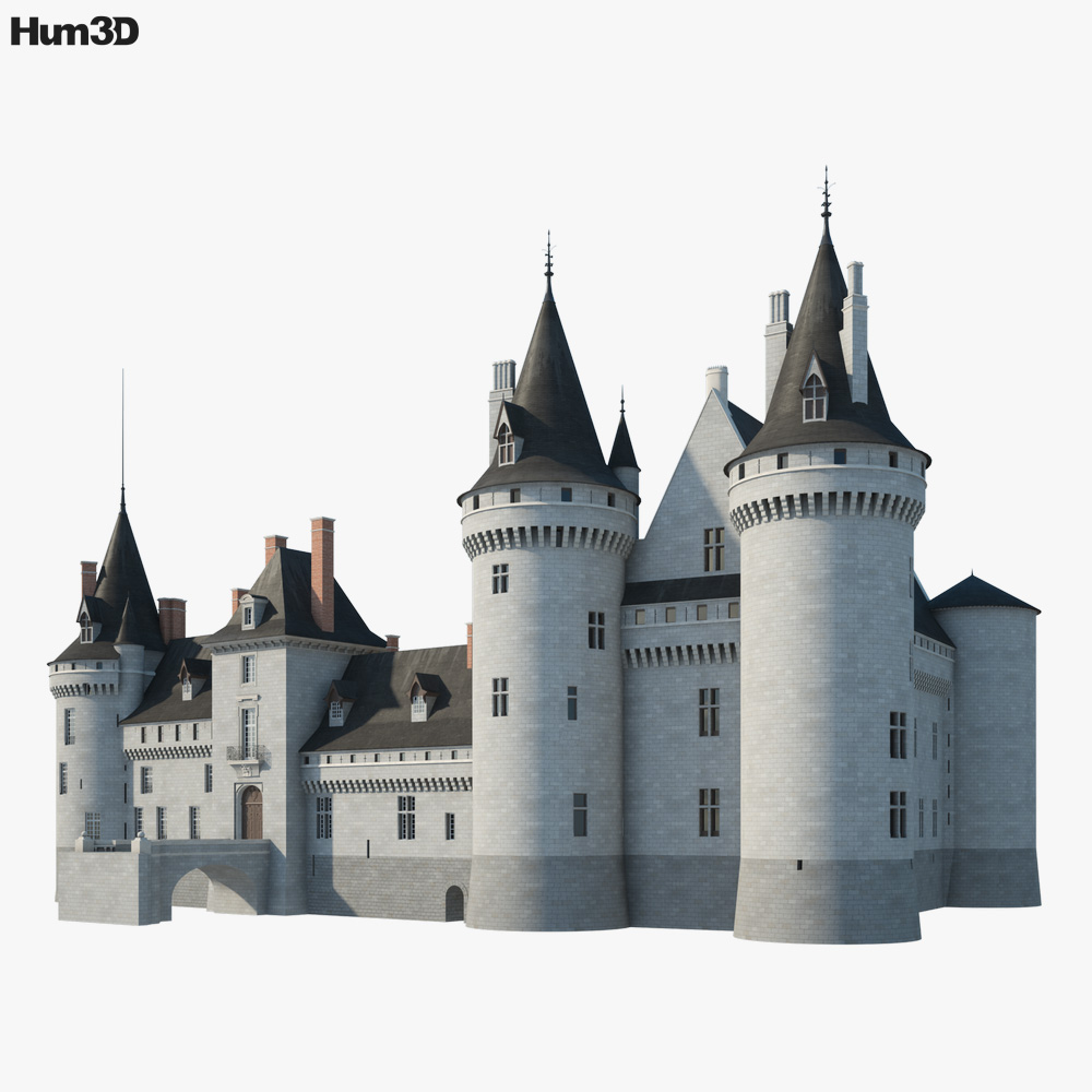 Castle of Sully sur Loire 3d model