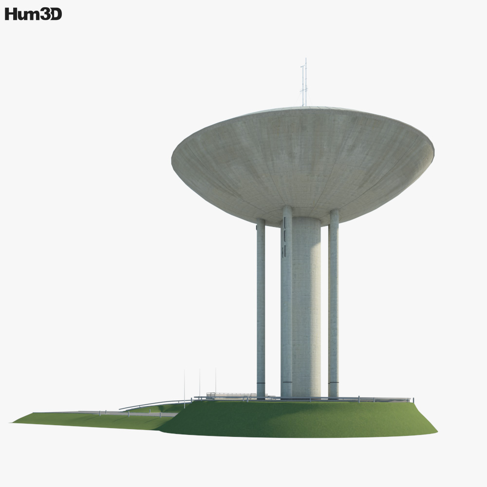 Haukilahti water tower 3d model