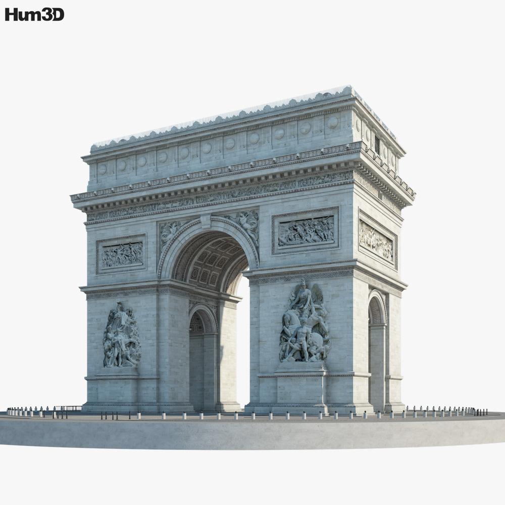 Arc de Triomphe 3d model