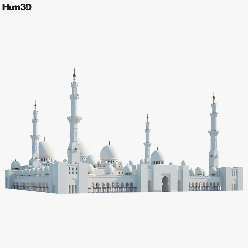 Sheikh Zayed Mosque 3d model