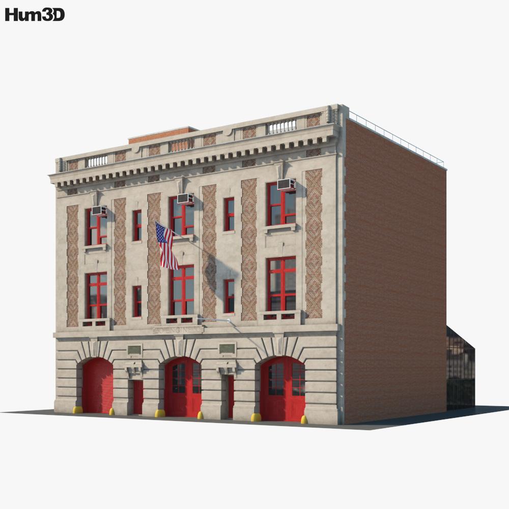 New York City Fire Station Museum 3d model
