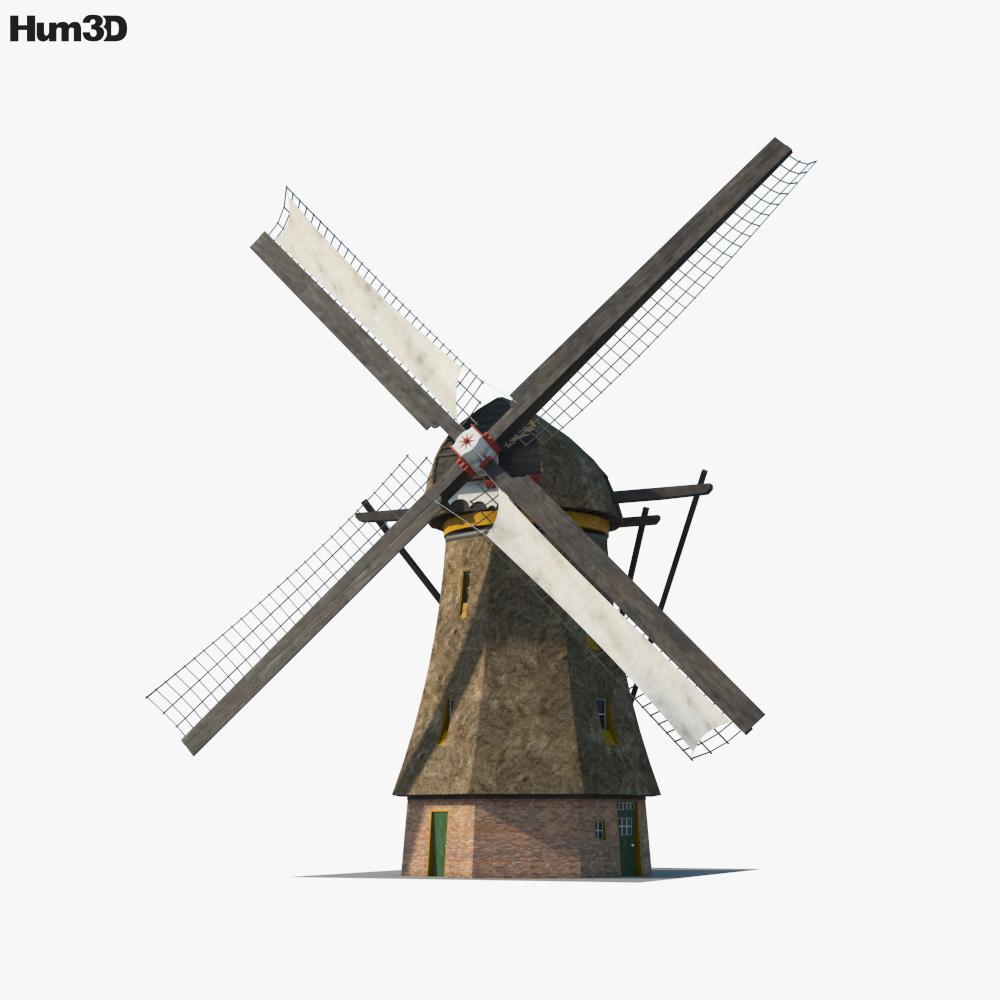Windmill Holland 3d model