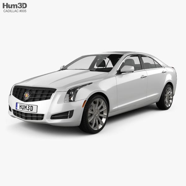 Cadillac ATS 2013 3D model - Hum3D