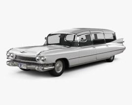 Cadillac Fleetwood 75 Miller-Meteor Hearse 1959 3D model