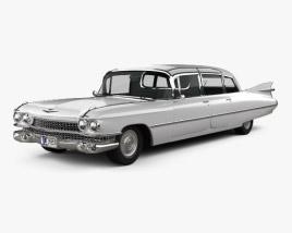 Cadillac Fleetwood 75 sedan 1959 3D model