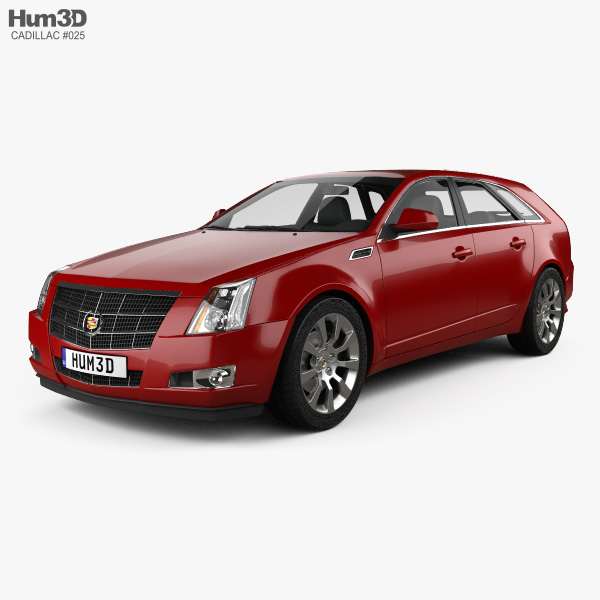 2014 Cars Cadillac Cts Use: Cadillac CTS Sport Wagon 2009 3D Model