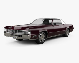 Cadillac Eldorado Fleetwood 1968 3D model