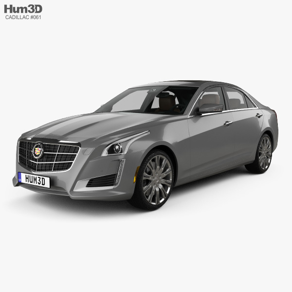 2014 Cadillac Cts Interior: Cadillac CTS With HQ Interior 2014 3D Model