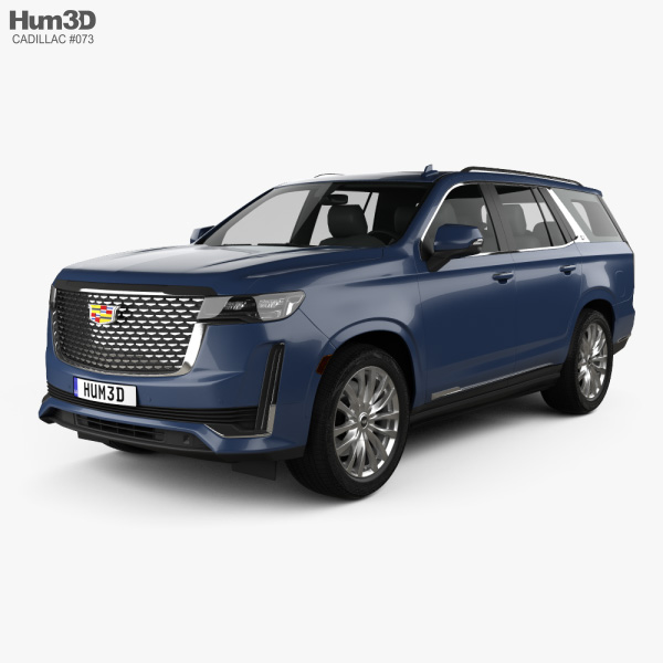 cadillac escalade luxury 2021 3d model  vehicles on hum3d