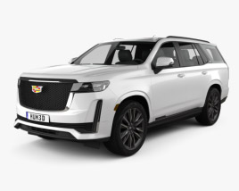 Cadillac Escalade Platinum Sport 2021 3D model