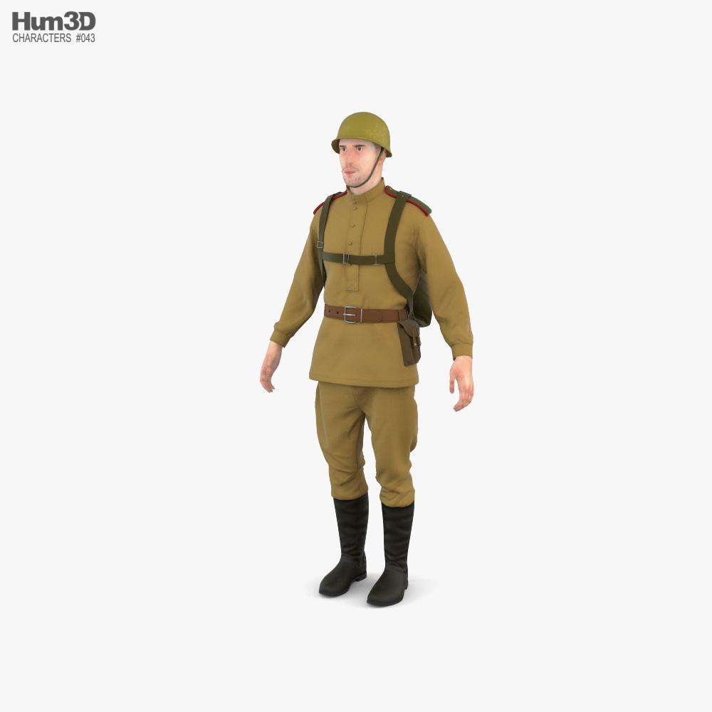 WW2 Soviet Soldier 3d model