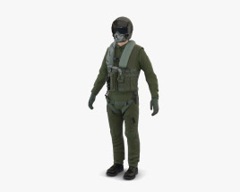 Jet Fighter Pilot 3D model