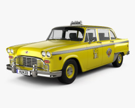 Checker Marathon (A12) Taxi 1978 3D model