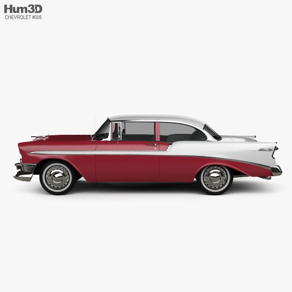 Chevrolet Bel Air Hardtop 1956 3d Model