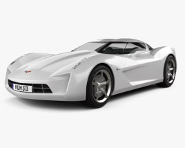 Chevrolet Stingray concept 2009 3D model