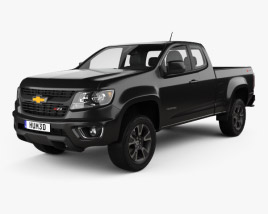 Chevrolet Colorado Extended Cab 2014 3D model