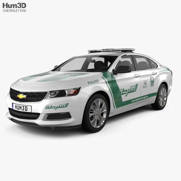 Chevrolet Impala Police Dubai 2014 3D Model