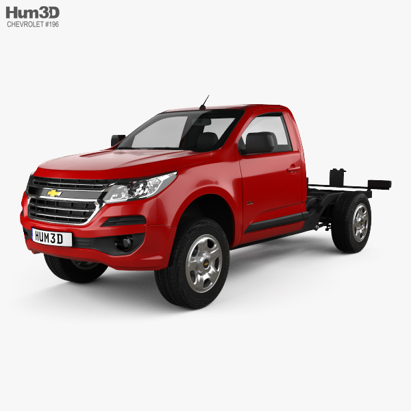 Chevrolet Colorado S 10 Regular Cab Chassis 2016 3d Model Vehicles