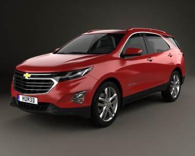 3D model of Chevrolet Equinox 2018