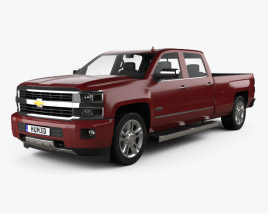Chevrolet Silverado 2500HD Crew Cab Long Box High Country 2017 3D model